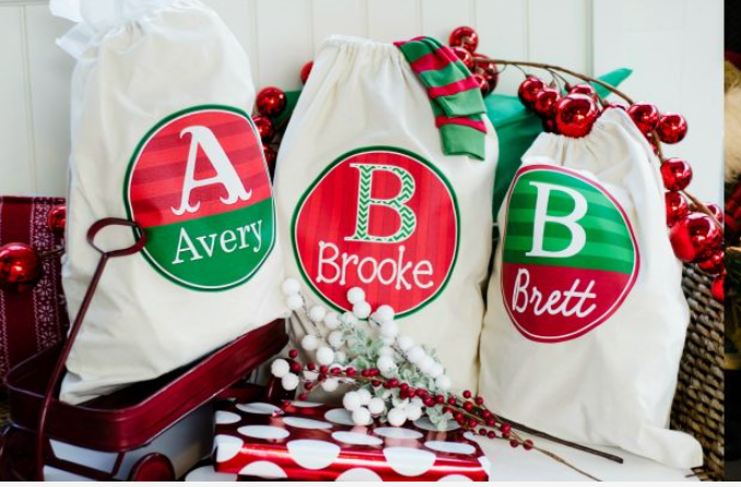 personal christmas bags