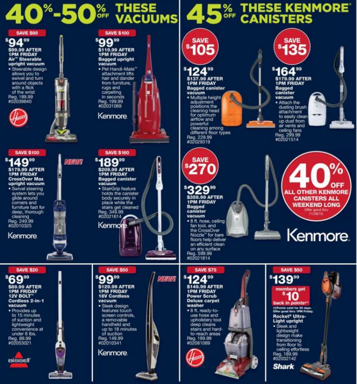 sears bf ad kenmore vacuums