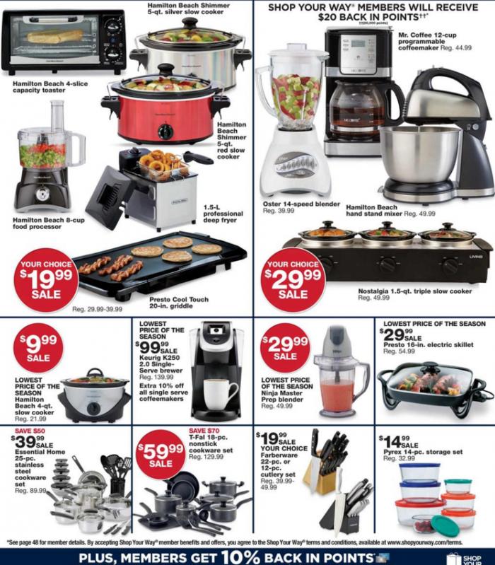 sears bf ad kitchen appliances