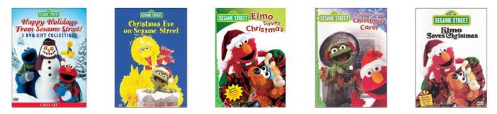 sesame street christmas dvds
