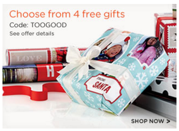 shutterfly choose a free gift