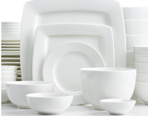 square white dishes  sc 1 st  Utah Sweet Savings & White Elements Cressida Square 42-Piece Set Service for 6 for ...