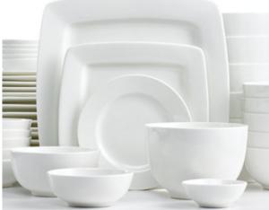square white dishes