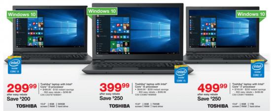 staples bf 1 toshiba laptops