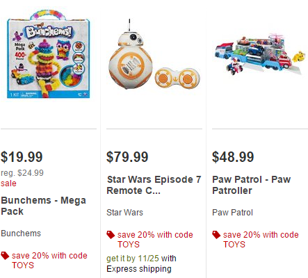 target toys deal