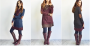 two toned draped neck tunic