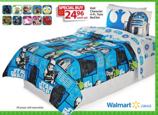 walmart bf ad 4 piece character bed in a bag sets