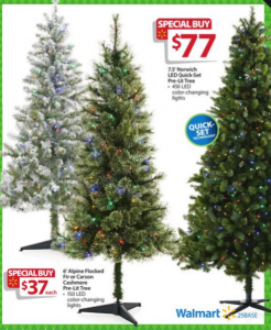walmart bf ad christmas trees - Christmas Tree Black Friday
