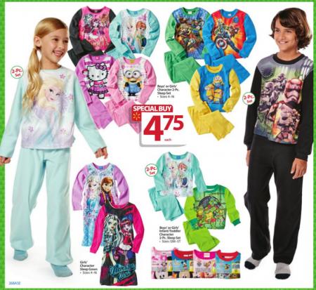 walmart bf ad kids sleepwear'