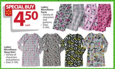 walmart bf ad womens sleepwear