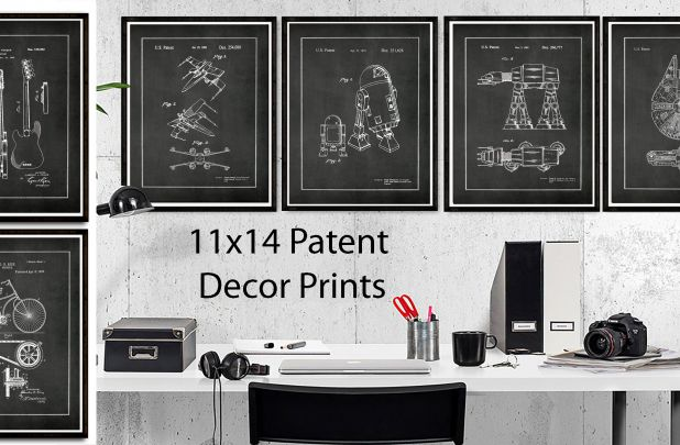 11X14 Vintage Patent Art Posters