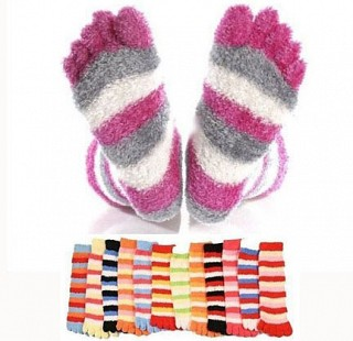 3 Pack of Super Comfy Fuzzy Toe Socks
