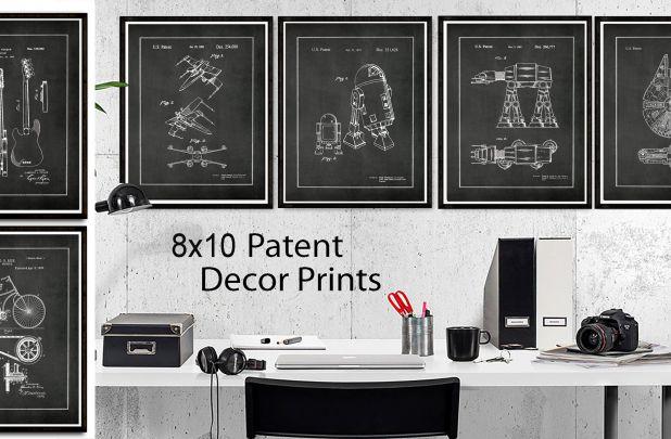 8x10 Vintage Patent Art Posters