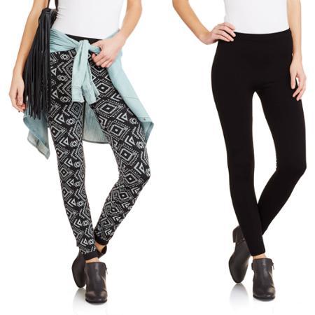 Allison Brittney Women's Cozy Fleece-Lined Leggings 2-Pack