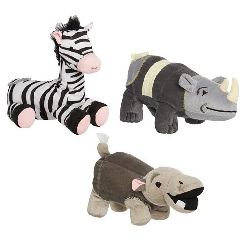 Animal Planet Safari 3-pc. Plush Pet Toy Set