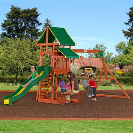 what a fun backyard swing set there s enough for all the kids and