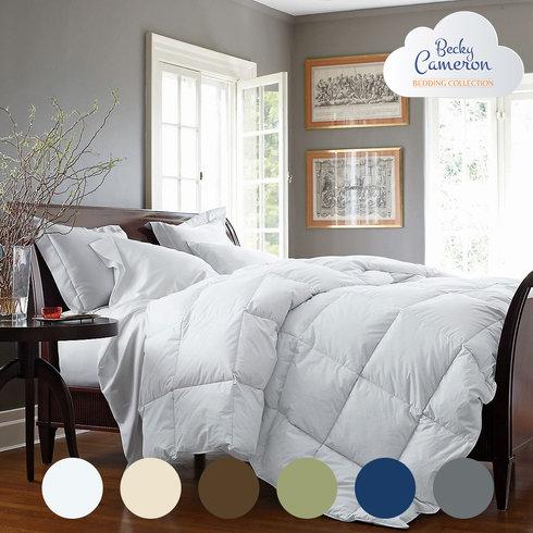 Becky Cameron Ultra-Plush Overfilled Down Fiber Luxury Comforter