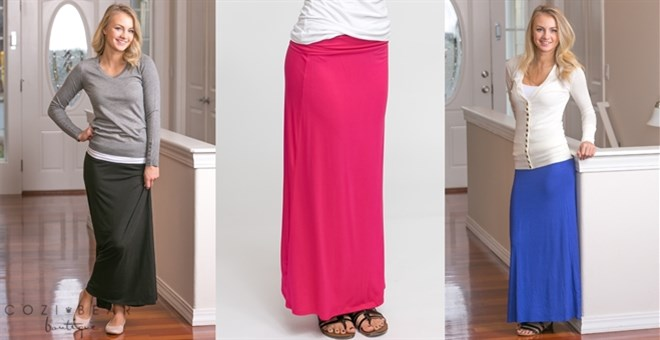 Best Selling Solid Maxi Skirts