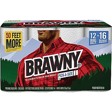 Brawny Pick-A-Size Two-Ply Paper Towel Rolls
