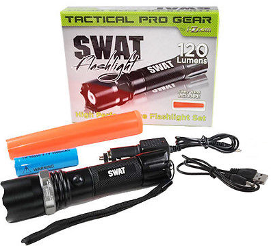 CREE 3W Tactical SWAT Heavy Duty Rechargeable Flashlight