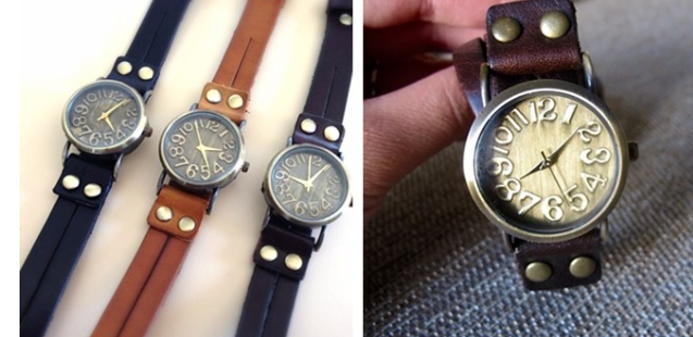 Genuine Leather Vintage Wrap Watch