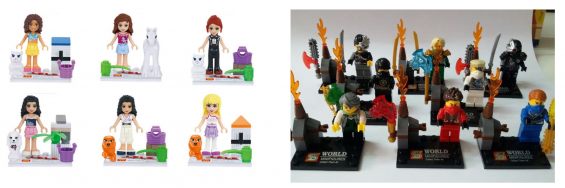 Girl or Ninja Building Block Sets