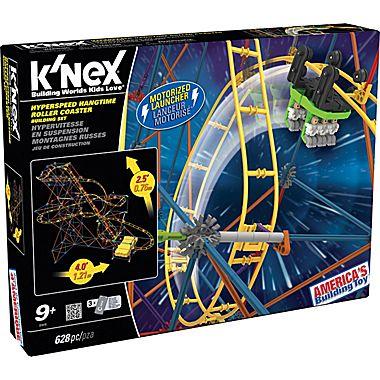 K'NEX Plastic Hyperspeed Hangtime Roller Coaster Building Set