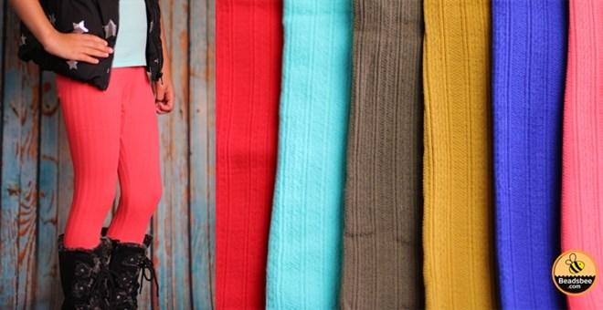 Kids Textured Fleece Leggings