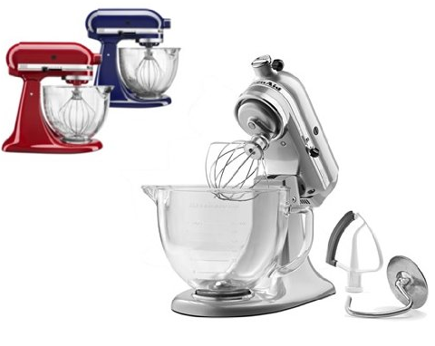 KitchenAid 5Qt Tilt-Head Stand Mixer with Glass Bowl