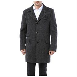 MODERM Men's 'Jacob' Wool Blend Single Breasted Walking Coat