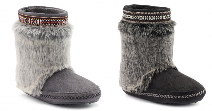 Madden Girl Embroidered Faux-Fur Tribal Women's Boot Slippers