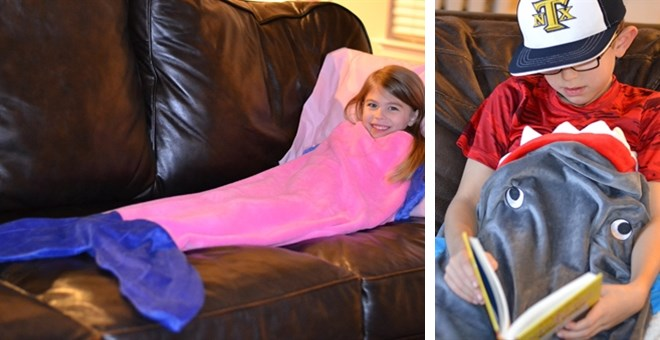 Mermaid Tail and Shark Tail Blanket