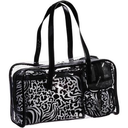 Modella Black and White Weekender Gift Set, 4 pc