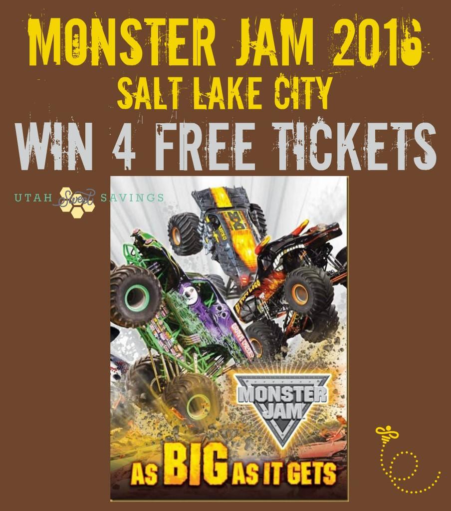 Monster Jam Salt Lake City 2016 Giveaway