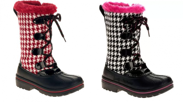 Ozark Trail Girls' Houndstooth Winter Boot