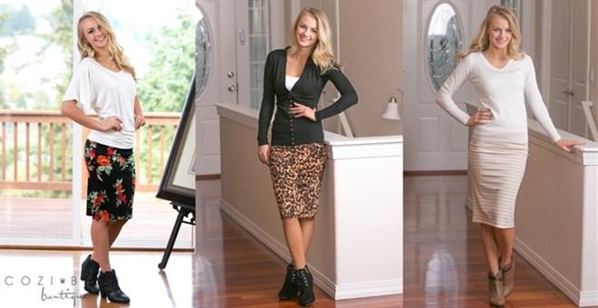 Print Midi Skirts