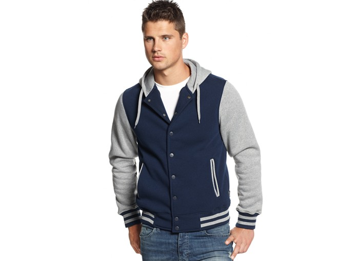 Ring of Fire Hooded Varsity Jacket