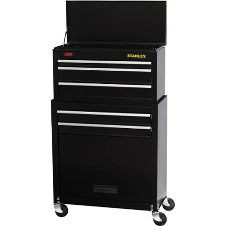 Stanley 5-Drawer Rolling Tool Chest with Bonus 68-piece Mechanics Tools Set