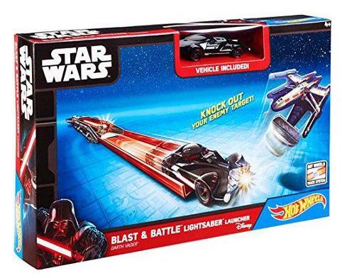 Star Wars Hot Wheels Disney Blast & Battle Lightsaber Car Launcher