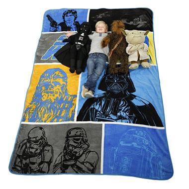Star Wars Oversized Pillow Buddy and Blanket Set - Select Character