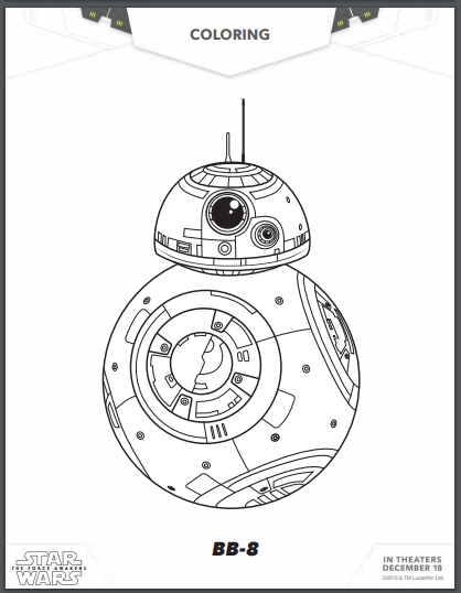free star wars  the force awakens coloring pages and activity pages   u2013 utah sweet savings