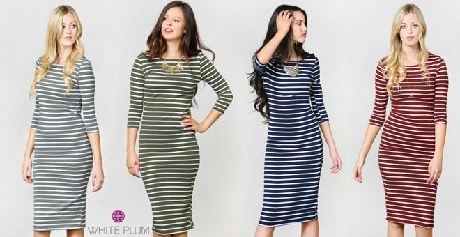 Versatile Striped Day Dress