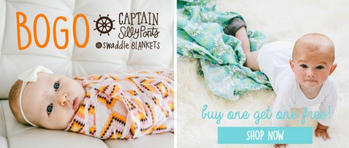 captain sillypants swaddle blankets
