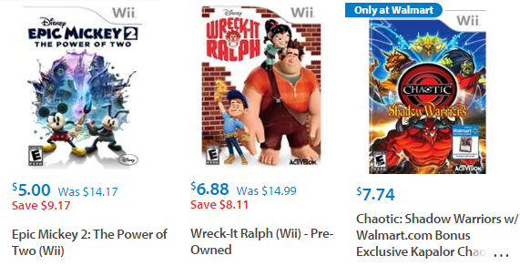 cheap walmart games