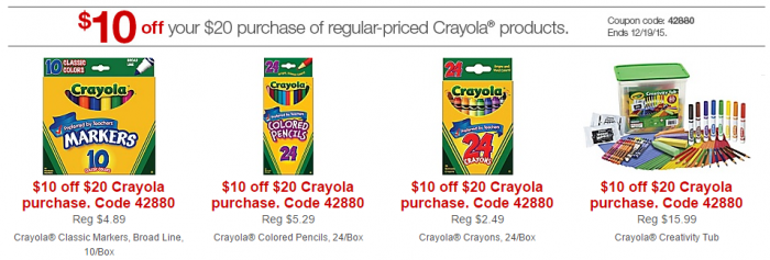 crayola at staples