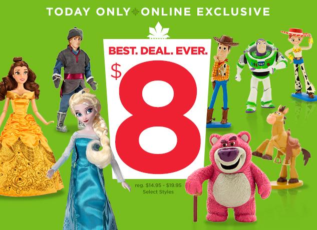 disneystore $8 classic dolls figure play sets
