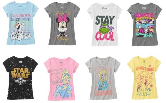 girls character shirts