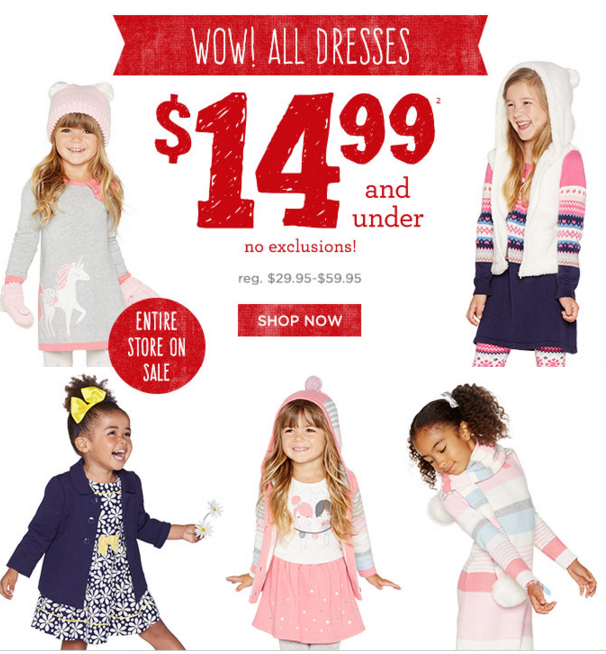 gymboree 14.99 and under free shipping