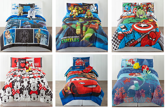 kids character comforter sets