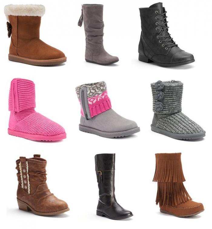 kohls girls boots dec 3